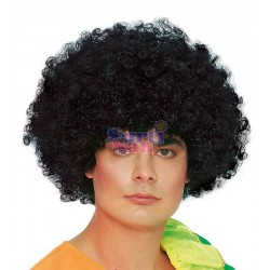 Peluca afro rizos negra