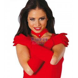Guantes rojos 45 cm