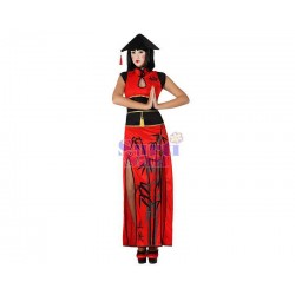 Disfraz china rojo sexy