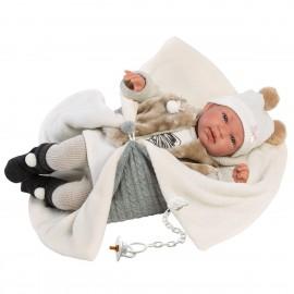 Disfraz ángel azul infantil