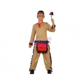 Disfraz indio rojo infantil
