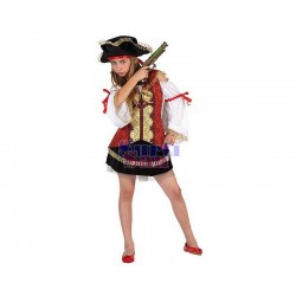 Disfraz pirata lujo niña