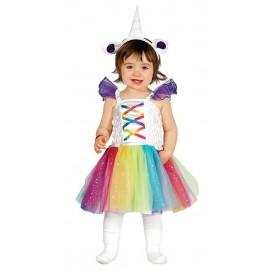 Disfraz brujita rosa infantil