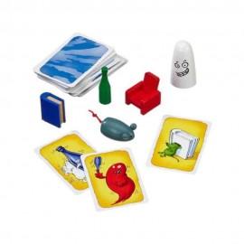 Barba y bigote gris con goma elastica