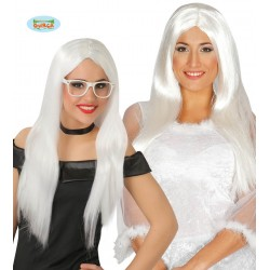 Peluca melena blanca