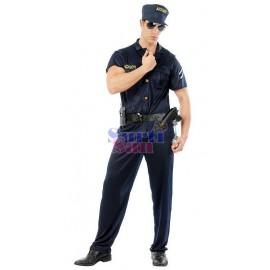 Disfraz hippy azul niña