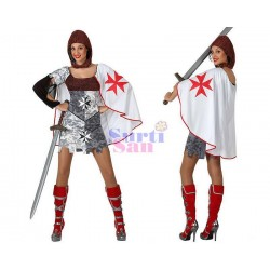 Disfraz guerrera cruzada mujer