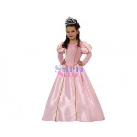 Disfraz princesa rosa  lujo infantil