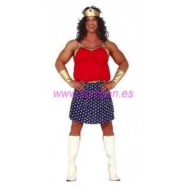 Disfraz árabe rojo infantil.
