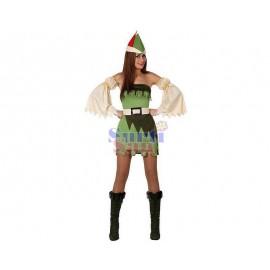 Disfraz princesa azul infantil.