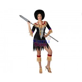 Disfraz de zulú sexy adulto