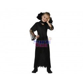 Disfraz viuda negra infantl