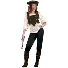 Peluca rizos roja y amarilla