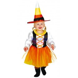 Disfraz brujita bebé naranja