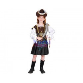 Disfraz pirata niña marrón